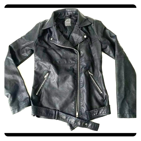 promo codes unequal in performance big selection NWT Primark Black Faux Leather Moto Biker Jacket NWT